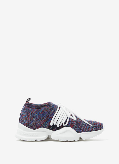 MULTICOLOR JACQUARD ANKLE SOCK SNEAKERS