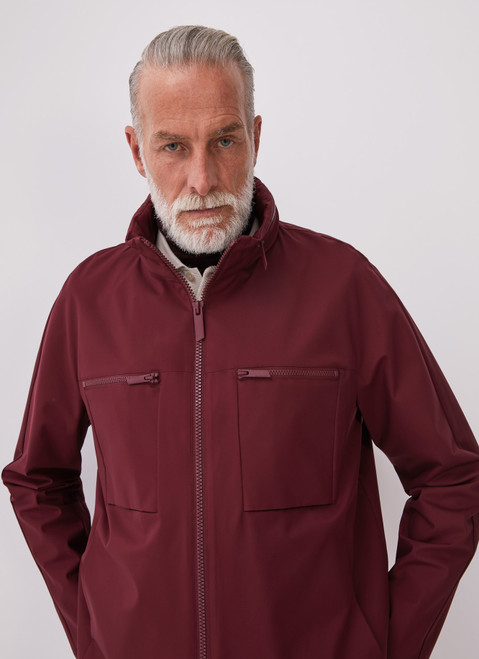 Red Technical Jacket With Zipper Closures