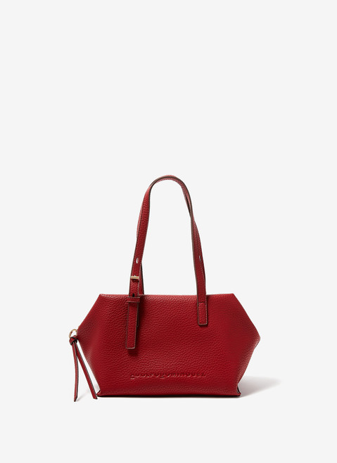 RED GRANULATED CITY BAG