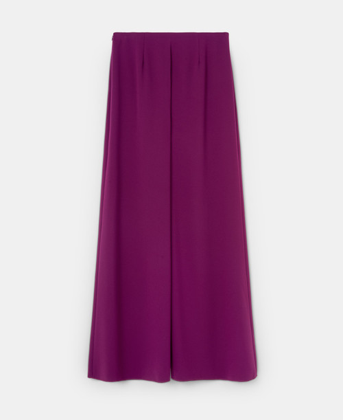 Red Bougainvillea Palazzo Trousers With Front Pleat