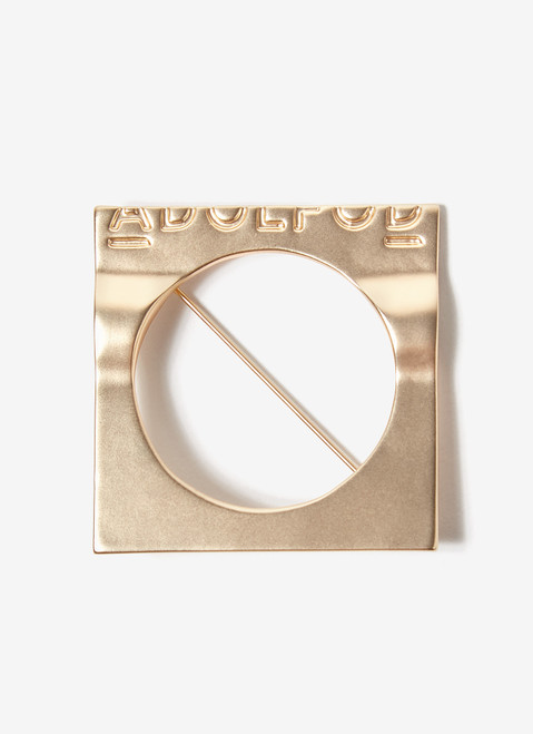 GOLD SQUARED METAL BROOCH