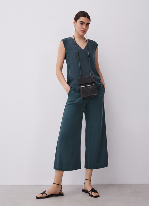 Green Straight Lyocell Trousers