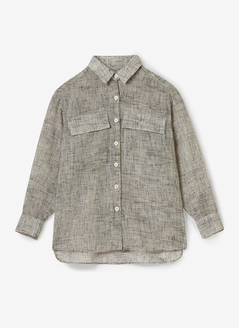 GREY SHIRT WITH CHEST POCKETS