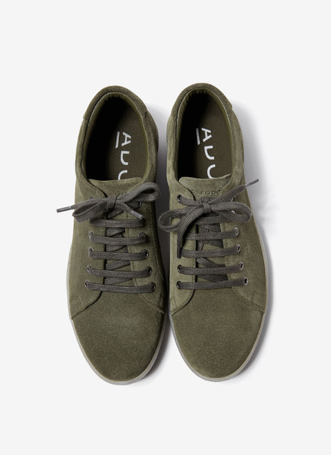 Ike Green Suede Sneakers With Rubber Sole