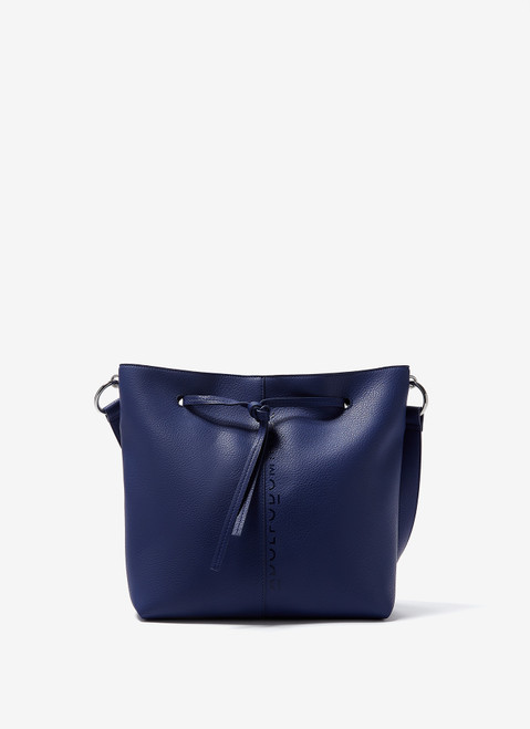 Matisse Blue Bucket Bag With Granulated Finish