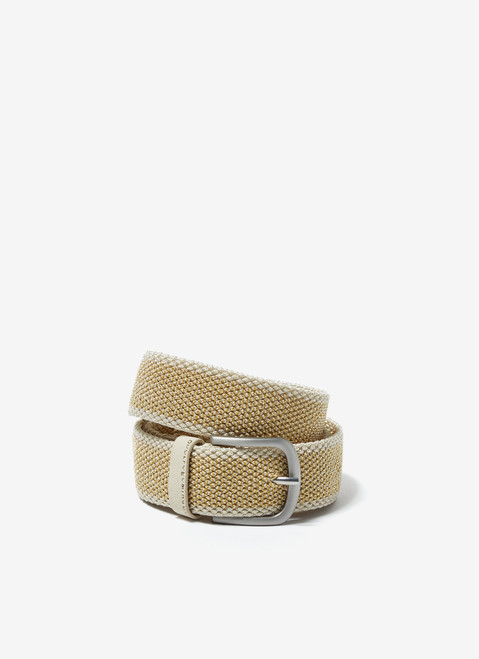 Lime Elastic Belt With Matte Buckle