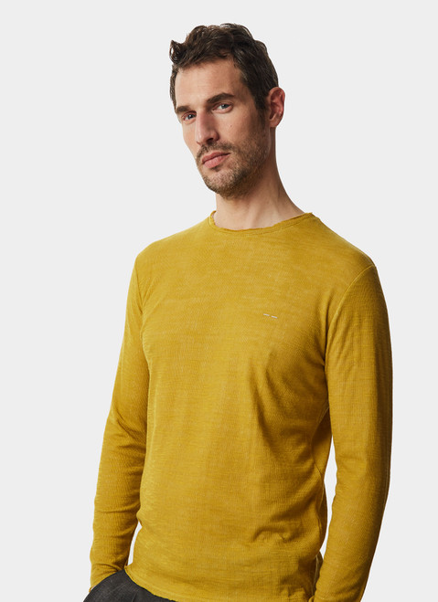 LIME DOUBLE -FACE LONG SLEEVE T-SHIRT