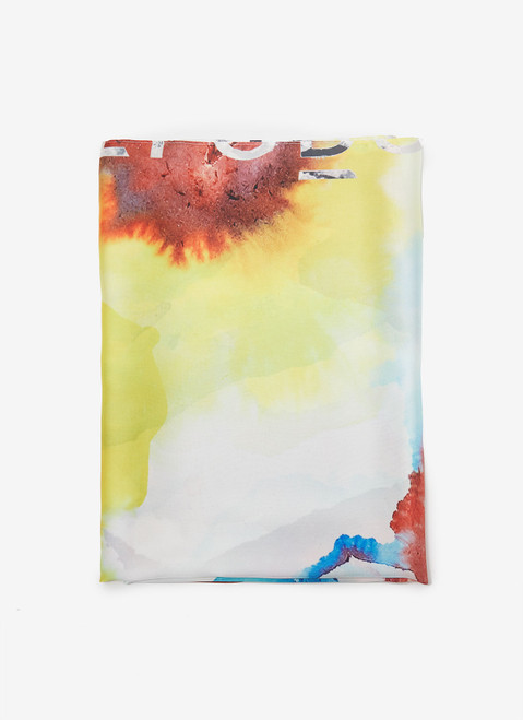 MULTICOLOR SCARF WITH FLOWER PRINT