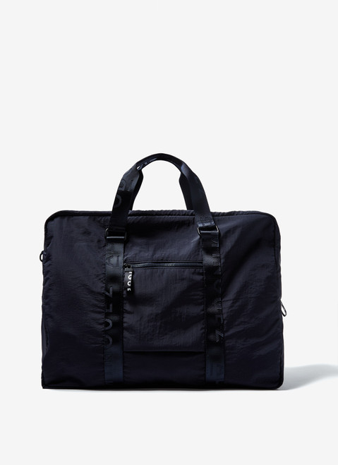 NAVY BLUE NYLON WEEKENDER WITH DOUBLE STRAP