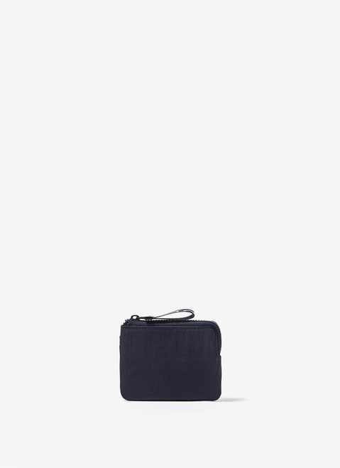 Navy Blue Nylon Coin Holder With Card Slot