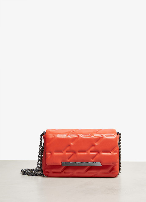 Orange Small Quilted Leather Flap Bag