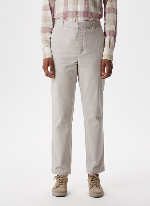 SAND TEXTURED ELASTIC CHINO TROUSERS