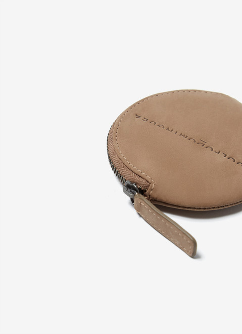 Stone Rounded Leather Coin Holde