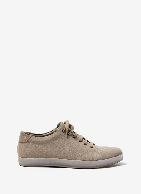 Stone Suede Sneakers With Rubber Sole