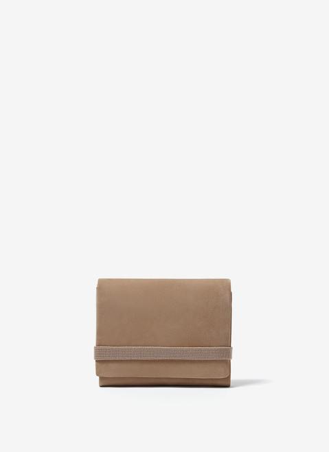 Stone Leather Wallet With Elastic Ban