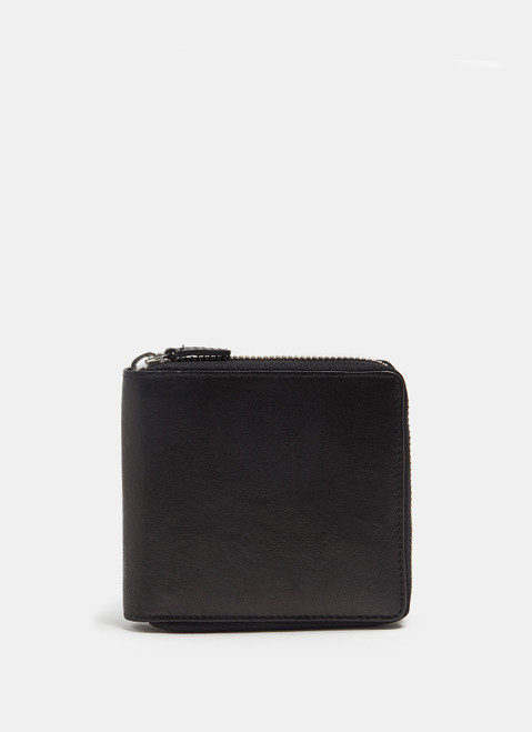 Black Wallet And Card Holder With Zipper