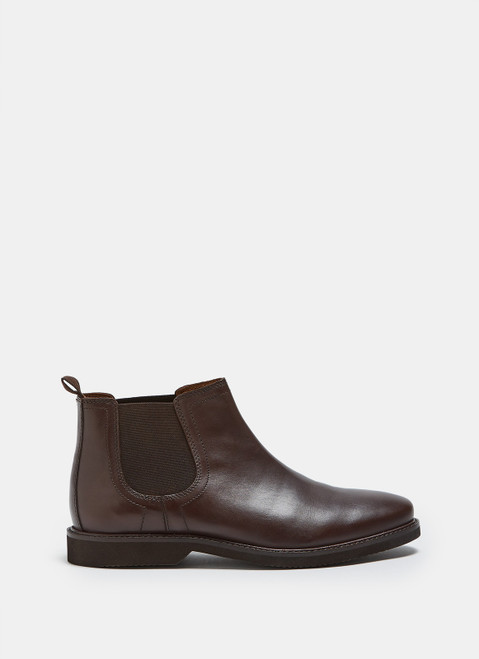 Brown Chelsea Ankle Boot With Rubber Sole