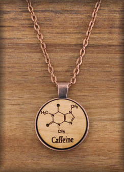 25 mm coffee caffeine mocha Charm on wood