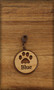 25 mm Dog / Cat Charm on wood with Pawprint
