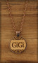 25 mm Grandmother Pendant Charm on wood with Scroll work