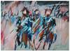 Polish Lancers at Waterloo 1815 - Small Print by Nina Greenwood