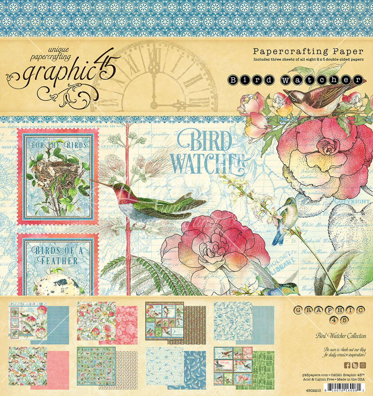 Graphic 45 Couture 10 sheets of double sided design papers