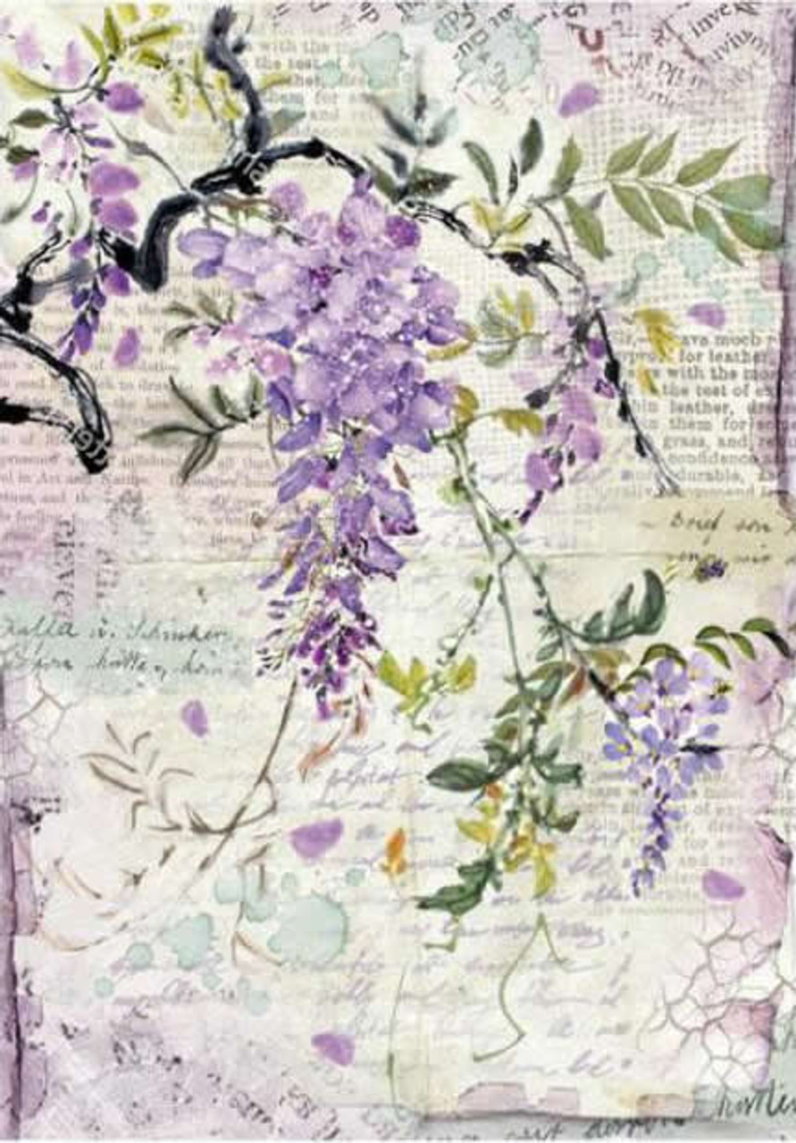 Lilac Decoupage Stamperia 1 x A4 Size Sheet Rice Paper