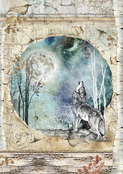 Cosmos Wolf & Moon