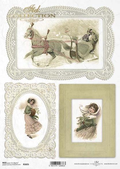 Vintage Ladies at Christmas