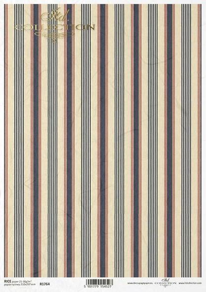 Navy Blue & Beige Stripes