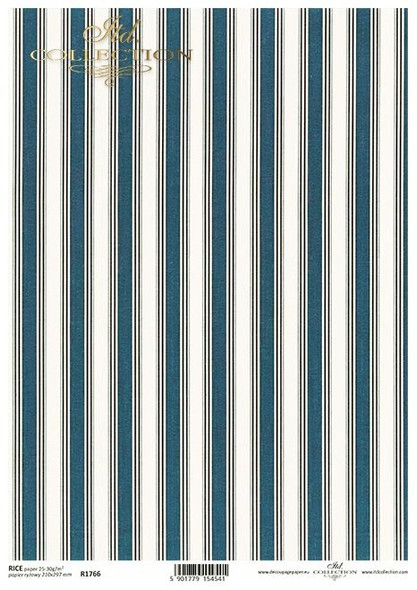 Navy Blue & White Stripes