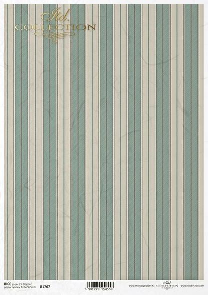 Green & Beige Stripes