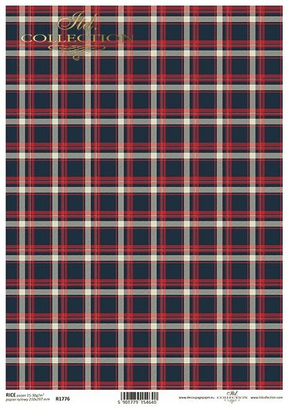 Red & Navy Blue Check
