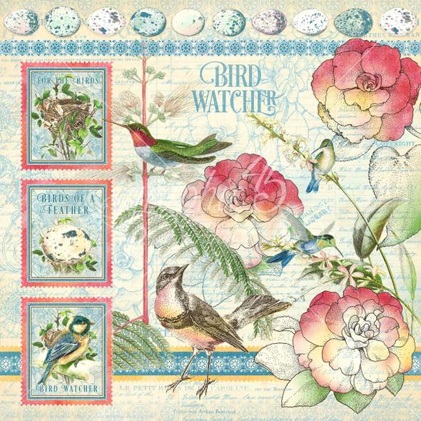 "BIRD WATCHER 12"" Paper Pad & Sticker Set"