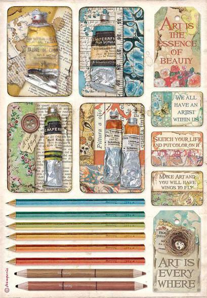 Atelier Tubes of Paints & Pencils