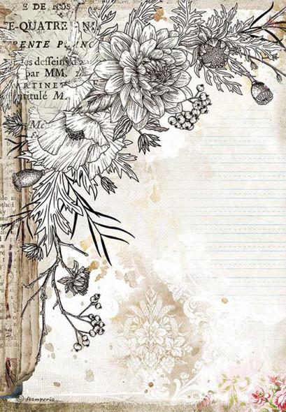 Romantic Journal Stylised flower