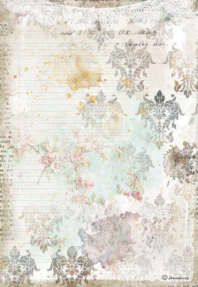 Romantic Journal texture with lace