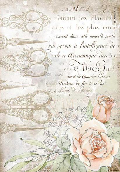 Romantic Threads Scissors & Roses