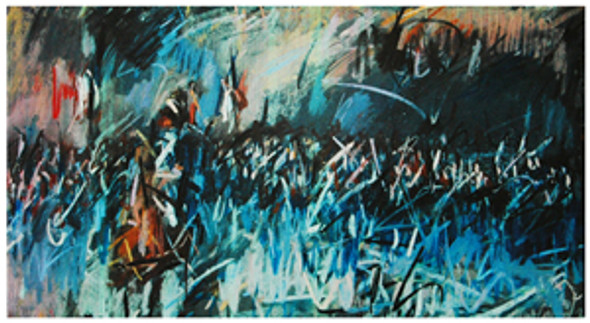 The French Old Guard at Waterloo 1815 - Limited Edition Medium Signed Print by Nina Greenwood