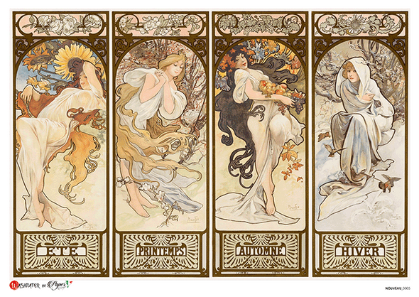 Four Seasons by Alphonse Mucha