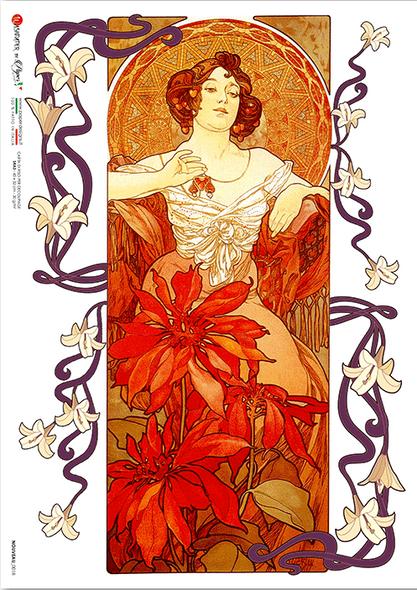 Mucha Women Soft Scrapbooking// Card Making A4 Decoupage Paper