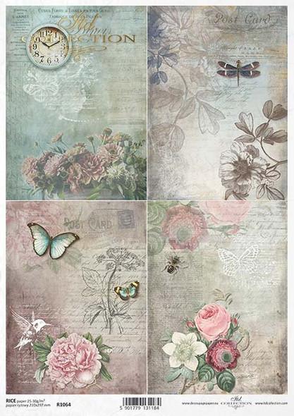 Butterflies, Dragonfly & Flowers