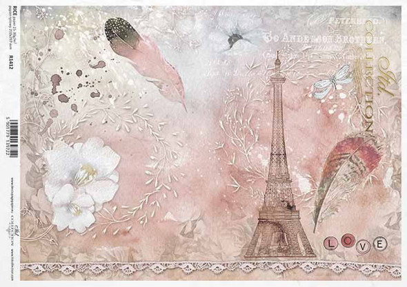 Paris & Feather Pink