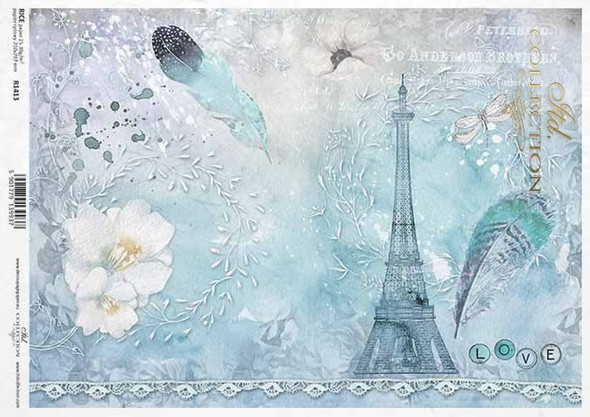 Paris & Feather Blue