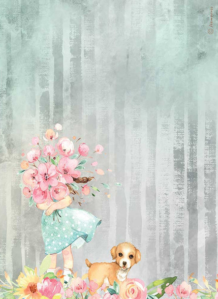 Circle of Love Bouquet & Dog