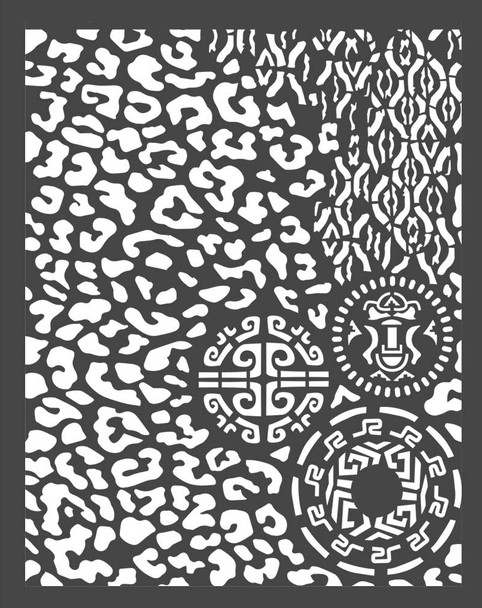 Amazonia Animalia with Tribals Stencil A4