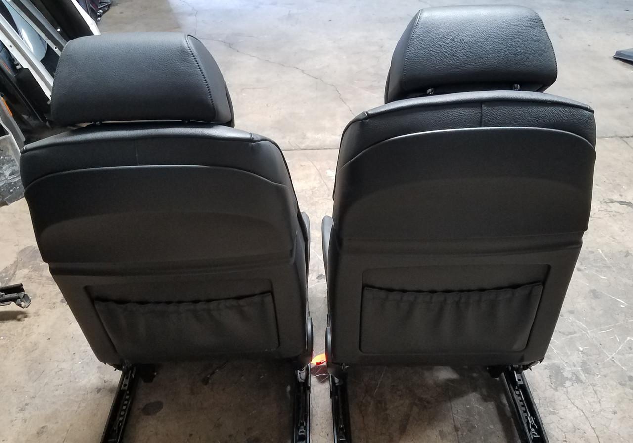 BMW E60 550i 530i 525i FRONT ELECTRIC SPORT SEATS BLACK LEATHER