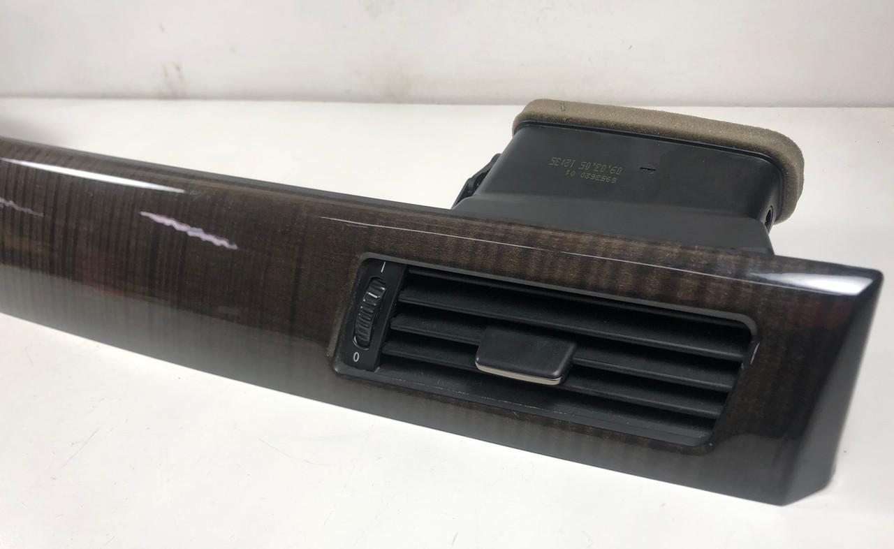 BMW E60 E61 DASH WOOD TRIM W/ AIR VENTS AND HAZARD/LOCK