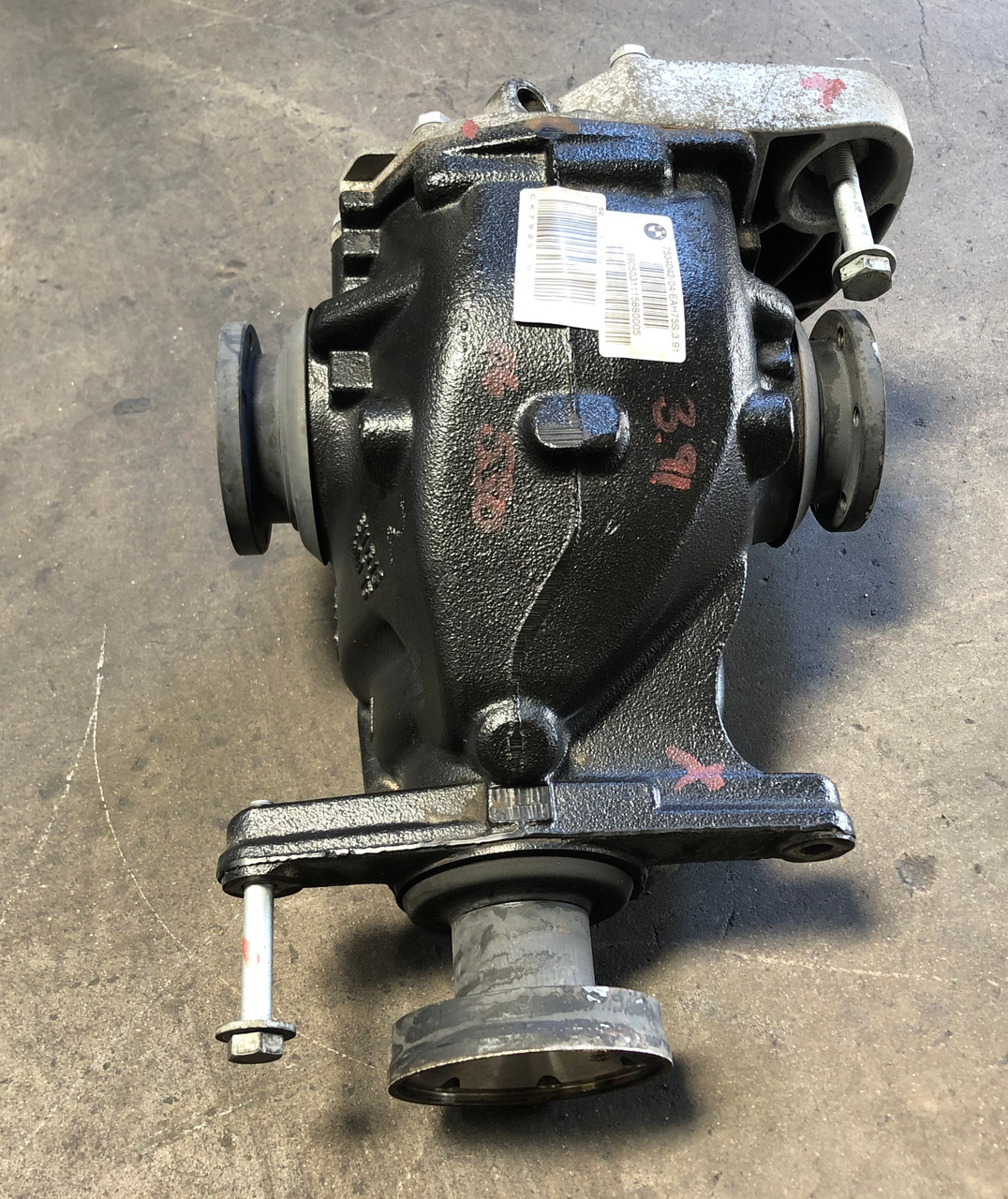 06 Bmw E60 530i 525i Automatic Rear Differential Axle Carrier 3 91 Gear 7534042 Bimmermerchant