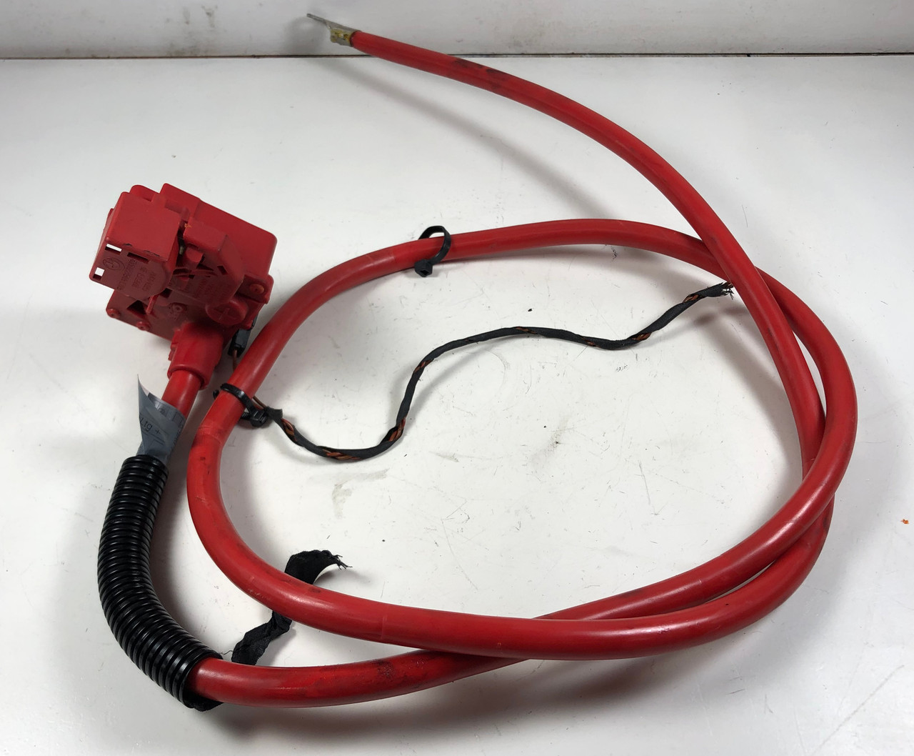08 09 BMW E60 Trunk Positive Battery Cable SRS 6989780